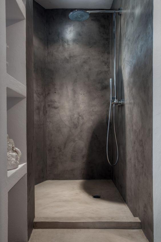 shower made of concrete