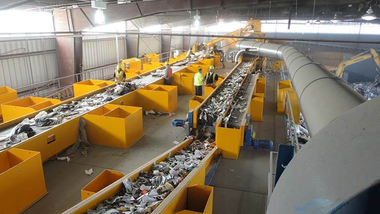 construction waste recycling system