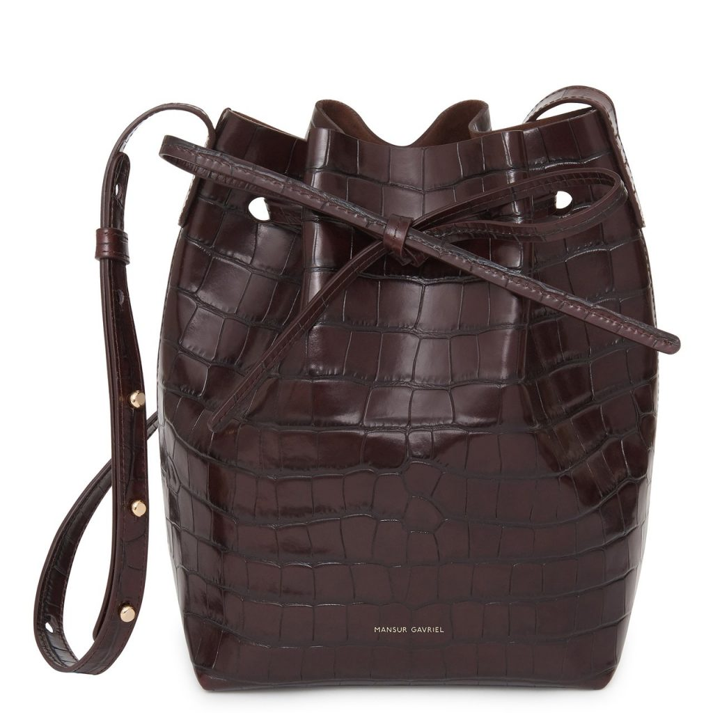 Croc-embossed purse